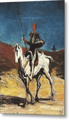Daumier, Honor� 1808-1879. Don Quixote Metal Print by Everett