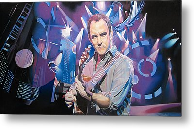 Dave Matthews And 2007 Lights Metal Print by Joshua Morton