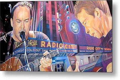 Dave Matthews And Tim Reynolds At Radio City Metal Print by Joshua Morton