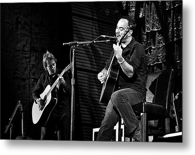 Dave Matthews And Tim Reynolds Metal Print by The  Vault - Jennifer Rondinelli Reilly
