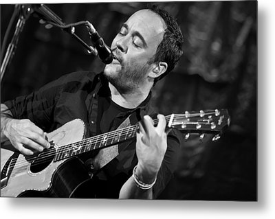 Dave Matthews On Guitar 2 Metal Print by The  Vault - Jennifer Rondinelli Reilly