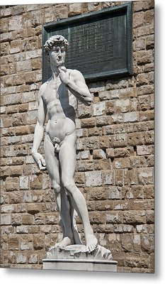 David By Michelangelo Metal Print by Melany Sarafis