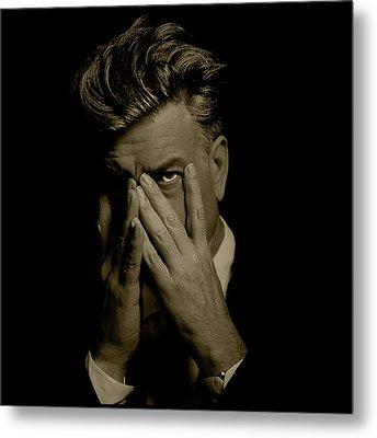 David Lynch Hands Metal Print by YoPedro