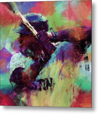 David Ortiz Abstract Metal Print by David G Paul