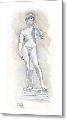 David Sculpture By Michelangelo Metal Print by Maddy Swan