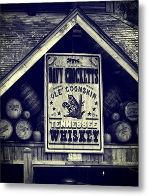 Davy Crocketts Tennessee Whiskey Metal Print by Dan Sproul