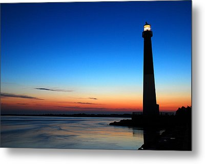Dawn At Barnegat Light Metal Print by James Kirkikis