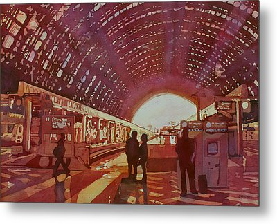 Dawn At The Station Metal Print by Jenny Armitage