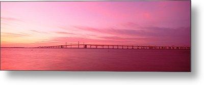 Dawn, Chesapeake Bay Bridge, Maryland Metal Print by Panoramic Images