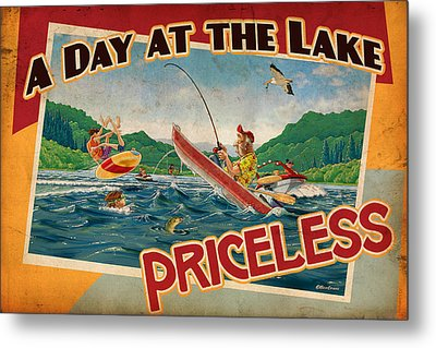Day At The Lake Metal Print by JQ Licensing