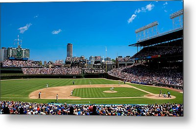 Day Game At Wrigley Field Metal Print by Anthony Doudt
