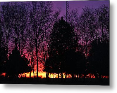 Day Is Done Metal Print by Lorri Crossno