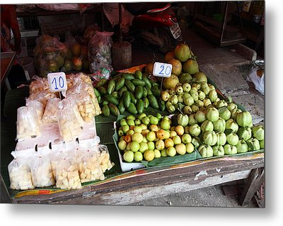 Day Market - Pak Chong Thailand - 011314 Metal Print by DC Photographer