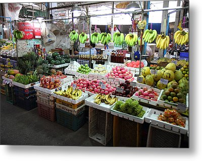 Day Market - Pak Chong Thailand - 011324 Metal Print by DC Photographer