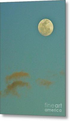 Day Moon Metal Print by Lynda Dawson-Youngclaus