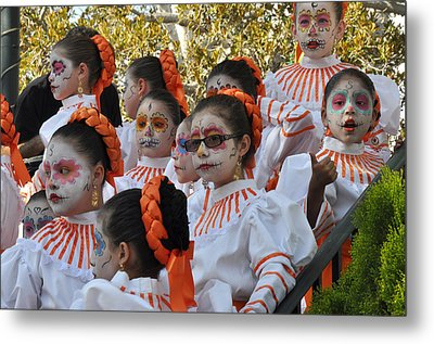 Day Of The Dead Metal Print by Diane Lent