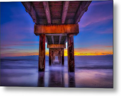 Daybreak At The Pier Metal Print by Marvin Spates