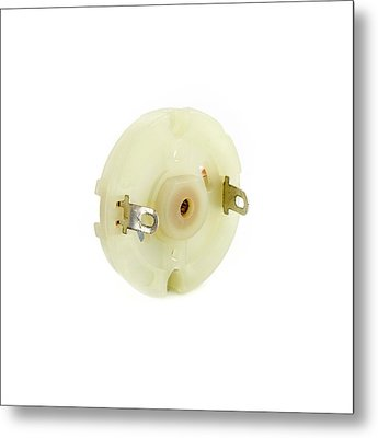 Dc Motor Commutator End Cap Metal Print by Science Photo Library