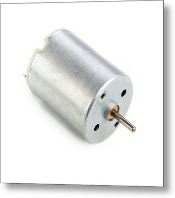 Dc Motor Metal Print by Science Photo Library