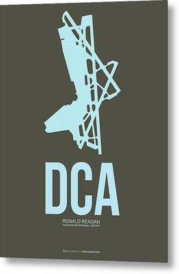 Dca Washington Airport Poster 1 Metal Print by Naxart Studio
