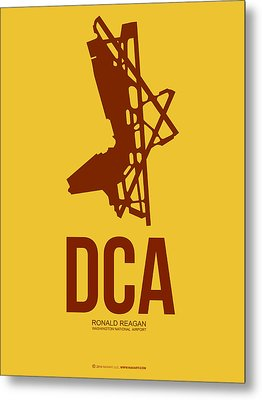 Dca Washington Airport Poster 3 Metal Print by Naxart Studio