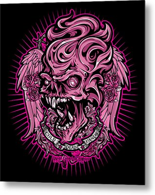 Dcla Cold Dead Hand Zombie Pink 2 Metal Print by David Cook Los Angeles