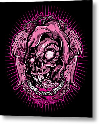 Dcla Cold Dead Hand Zombie Pink 3 Metal Print by David Cook Los Angeles