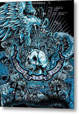 Dcla Designed Skull Heaven And Hell Artwork 5 Metal Print by David Cook Los Angeles