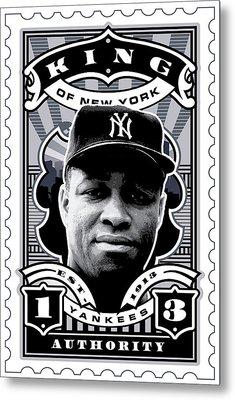 Dcla Elston Howard Kings Of New York Stamp Artwork Metal Print by David Cook Los Angeles