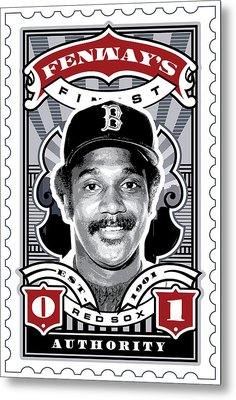 Dcla Jim Rice Fenway's Finest Stamp Art Metal Print by David Cook Los Angeles