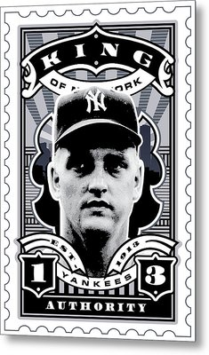 Dcla Roger Maris Kings Of New York Stamp Artwork Metal Print by David Cook Los Angeles