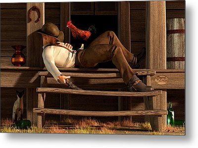 Deaf To The Rooster's Call Metal Print by Daniel Eskridge
