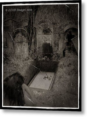 Death Becomes Her Metal Print by Kristie  Bonnewell