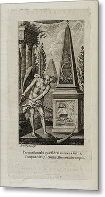 Death Being Conquered Bv The Bible Metal Print by British Library