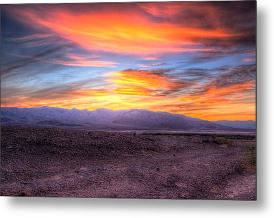 Death Valley Sunset Metal Print by Heidi Smith