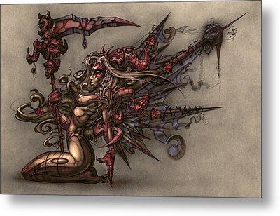Death's Angel Metal Print by David Bollt
