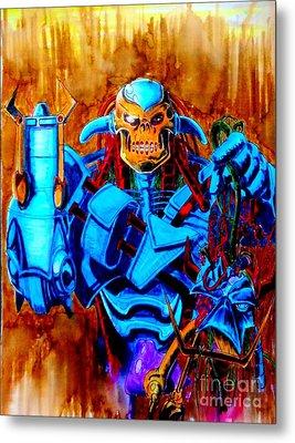 Death's Head II Metal Print by Justin Moore