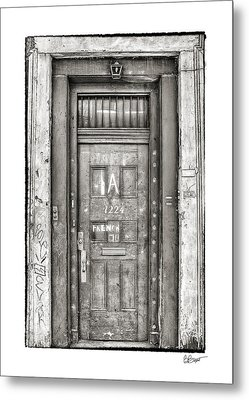 Decaying Beauty In Black And White Metal Print by Brenda Bryant