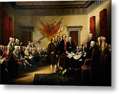 Declaration Of Independence Metal Print by MotionAge Designs