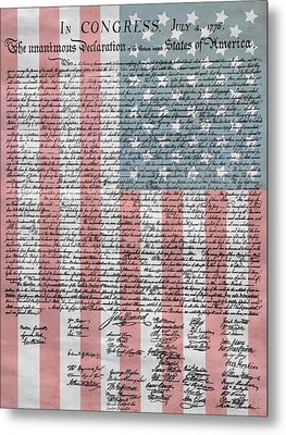 Declaration Of Independence Metal Print by Dan Sproul