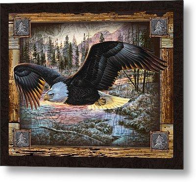 Deco Eagle Metal Print by JQ Licensing