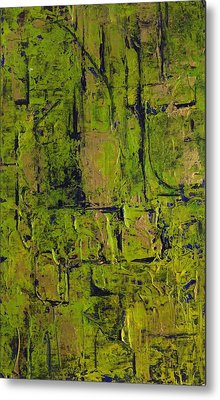 Deep South Summer Coming On - Panel II - The Green Metal Print by Sandra Gail Teichmann-Hillesheim