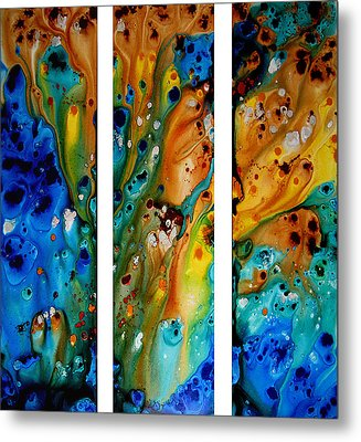 Deep Visions - Abstract Modern Contemporary Art Painting Metal Print by Sharon Cummings
