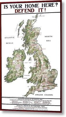 Defend The United Kingdom - 1915 Metal Print by Daniel Hagerman