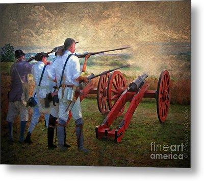 Defending Bemis Heights 1777 Metal Print by Lianne Schneider