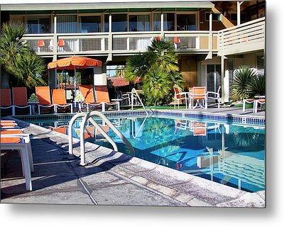 Del Marcos Pool Palm Springs Metal Print by William Dey