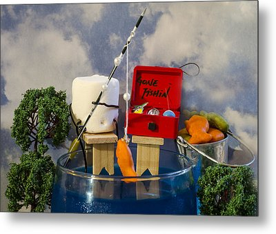 Delicious Fish Metal Print by Heather Applegate