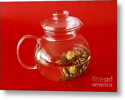 Delightful Blooming Tea Metal Print by Inspired Nature Photography Fine Art Photography
