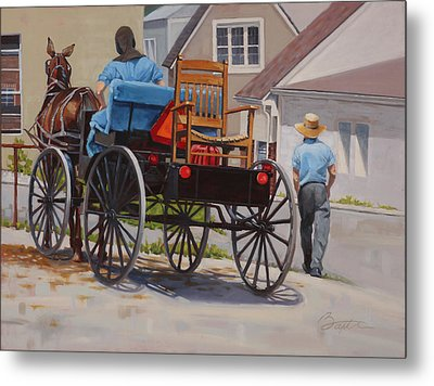 Delivering The Chair Metal Print by Todd Baxter