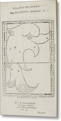 Delphinus Star Constellation Metal Print by British Library